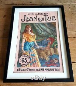 1910 Jan Starace Beautiful Original Gouache Blanket Louis Black Jean-qui-tue