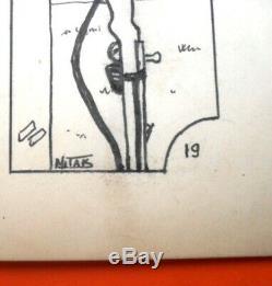 2 Mitak Original Drawing Original Tam Tam Boards Made War Mitacq