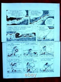 2 Original Boards By Jannin For The Newspaper Spirou Albumdessin Originalbd