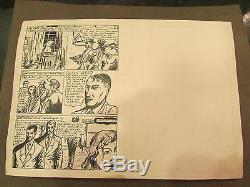 2 Original Drawing Ink Cartoon Bd Board Has Identify Age 1950