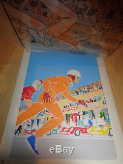 2 X Original Boards Printing Color Test Michel Vaillant 1980's