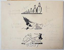 3 Original Drawings By Félix Lorioux For Robinson Crusoé 1930