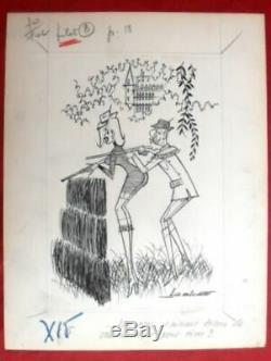 4 Original Drawings Of A.g. Badert Bd Original Board