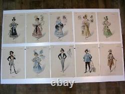 48 Boards Opera Theatre La Boheme (puccini) 1896 Original Drawing Costume Decoration