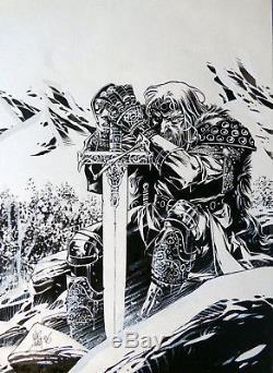 Alberto Varanda Original Drawing Knight
