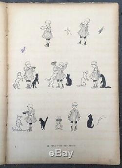 Album Cats Théophile-alexandre Steinlen Drawings Boards 26 1898