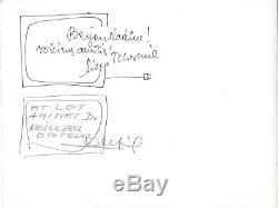 André Franquin Drawing Gaston Lagaffe Signed