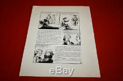 B. D. 8 Boards Original Inked 34 Drawings By Maurice Toussaint To See