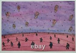 Barbe Andre Drawing Original Bd Planche Fantastique Animated Landscape Characters