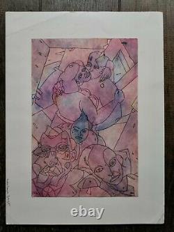 Barbe Andre Drawing Original Comics Fantastic Board Animated Kiss Characters