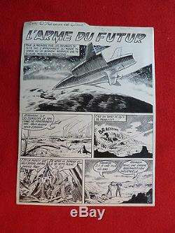 Bd Board Drawing Original Indian Ink Science Fiction The Weapon Of The Future Artim