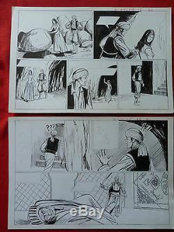 Bd Box Drawing Original Pif Vaillant Nasdine 40cm / 54 CM