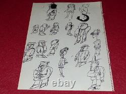 Bd Drawing Humor Press Strido / 1 Drawings Board - Original Sketch 1960