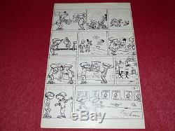 Bd Drawing Strido Humor Press / Bd Board Original Signed Children 1960 50x32