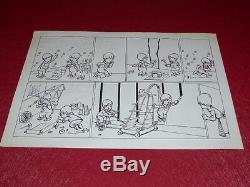 Bd Drawing Strido Humor Press / Board Original Comics Children 1960 50x33