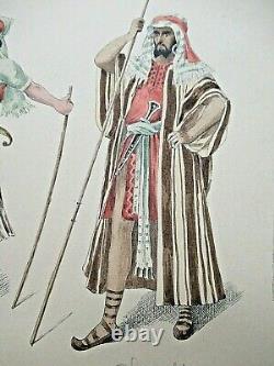 Beautiful Board Watercolor Costumes Originals Style Job 1890 Theatre Bible