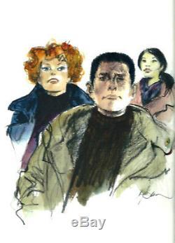 Beautiful Original Watercolor Signed René Follet Bob Morane Tania Orloff S. Paramount