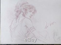 Beautiful P. Delaby Murena / Original Drawing