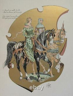 Board Le Chic A Cheval L Vallet 1891 Chatelaines Mid-14th Century 33 X 25