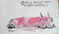 Board Original Color Drawings Watercolor René Hausman Published In Spirou