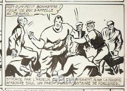 Carlo Cossio Original Plate Alain Lightning 1947 Dick Fulmine