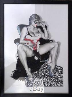 Casotto Giovanna Original Drawing Woman Interior 54 X 40