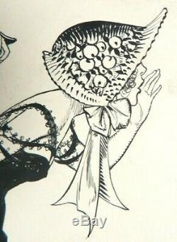 Cheri Herouard (1881-1952) Original Drawing Illustration For La Vie Parisienne