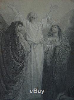 Christ Original Drawing Of Alexander Bida (1823-1895) Bible Illustration