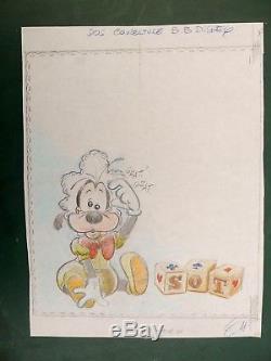 Claude Marin Original Illustration Cover Babies Disney Goofy Dingo