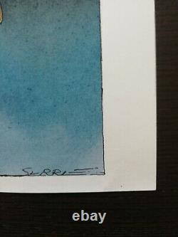 Claude Serre Planche / Original Drawing Signed And Edited In Album