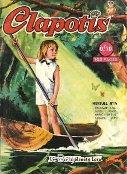 Cortiella 1966 Beautiful Original Drawing Gouache Cover Clapotis N ° 14
