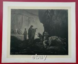 Dante's Enfer Alighieri Drawing By Gustave Dore 1865 L. Hachette Planche No.19
