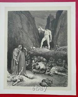 Dante's Enfer Alighieri Drawing By Gustave Dore 1865 L. Hachette Planche No.58