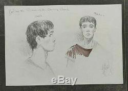 Delaby Murena Original Drawing Ex Arena And Cruore