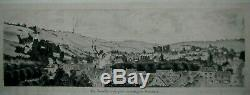 Drawing 1912 Andelis View Faubourg Boardwalk Vallèe Seine Eure