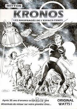 Drawing A3 Original Ex-libris Poster Kronos Jy Mitton Ow! Inked Lug Titans