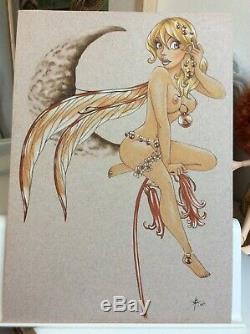 Drawing Board Original Dedication Bd Tribute Fee Fee The Wake Fantasy Art