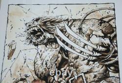Drawing Board Original Wolverine By Joe Madureira Artist Juapi Coffee Artist