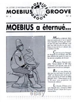 Drawing Original B & W Moebius Starwatcher & Swan Framed Professionally