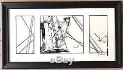 Drawing Original B & W Pellerin L'epervier Dimension 3817 CM Rare (box 2850)