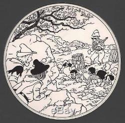 Drawing Original Cover Bob Moor Tijl Uilenspiegel Thil And Lamme No Tintin