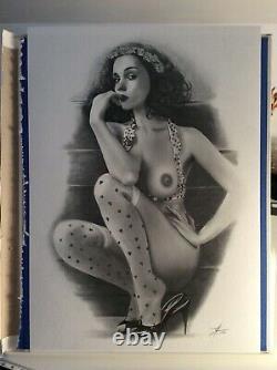 Drawing Original Prepared Board Illustration Woman Tribute Bd Dedicace