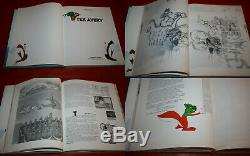 Droopy An Original 8 Original Drawings Board + Book Tex Avery A View