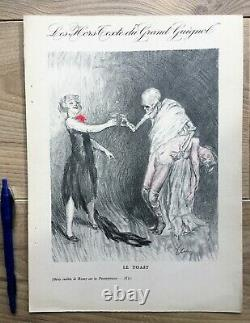 Elsen 4 Unpublished Boards Lithography Excluding Text Of Grand Guignol 1927