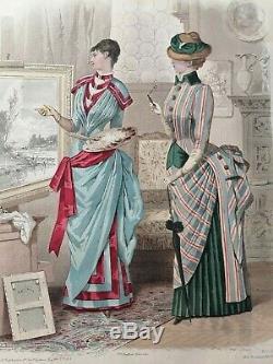 Engraving Monitor The Jules David Drawing Mode 1883 Board 7