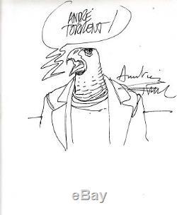 Enki Bilal Horus Drawing Signed