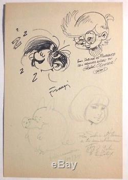 Franquin / Leloup / Devos / Hausman Dedicated Signed Autographs / Dupuis