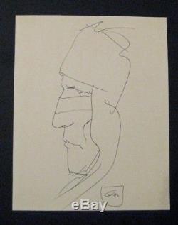 Gir Bel Indian Original Drawing Signed Tbe