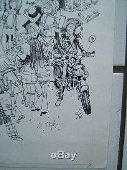 Gloesner / Rentree. / Original Board Ink Of China 27.5 X 32.5 CM