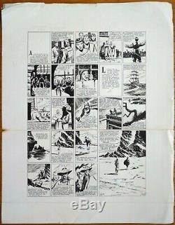 Great Original Plate Of Claude-henri Juillard L'invincible Around 1955
